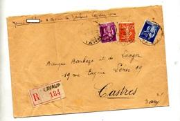 Lettre Recommandee Lavaur Sur Paix Semeuse - Marcophilie (Lettres)