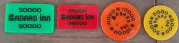 Lebanon Badaro Inn 1990s Chips Jeton Token Coin Cplt Set Very RR And Beautiful - Lebanon