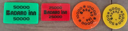Lebanon Badaro Inn 1990s Chips Jeton Token Coin Cplt Set Very RR And Beautiful - Líbano