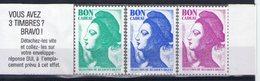 Lot D'un Carnet Et De 3 Vignettes Bon Cadeau Sélection Du Reader Digest. Liberté De Gandon - Commemorative Labels