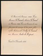 ADEL  NOBLESSE /  LE BARON ET LA BARONNE VAN LOO M.LE GRAND ET M.LE GRAND 1888 MAD.DELLY LE GRAND / ANDRE DE PIERPONT - Mariage