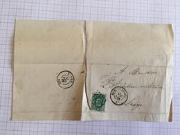 19C Pli Courrier Gent Vers Liège Auditeur Militaire 1872 Au Sujet Degrez Caporal Fourrier 12 Eme Régiment - Manuscrits