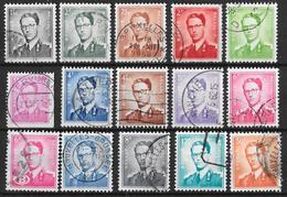 Belgique-Poste 1958-Baudoin 1er-Lot (15 Val.)--OBL - Belgium