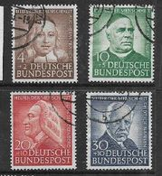 Germany, F.R., 1953, Intellectuals Relief, Used - [7] Federal Republic