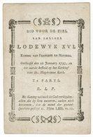 Doodsprentje LODEWYK  XVI   1793 - Religion & Esotérisme