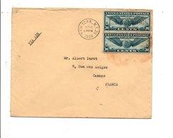 ETATS UNIS USA AFFRANCHISSEMENT COMPOSE SUR LETTRE DE NEW YORK POUR LA FRANCE 1939 - Vereinigte Staaten