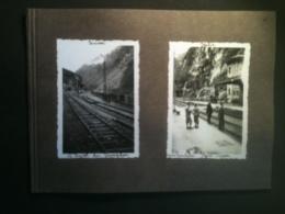 Photo - Frontière Suisse Et Italie, Le Tunnel Du Simplon, Gare Frontière Italo-Suisse, Chef De Gare, 1934 - Luoghi