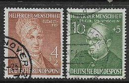 Germany, F.R., 1952, Humanitarian Relief Fund, 4pf +2, 10pf +5 Used - [7] Federal Republic