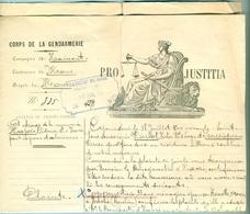 Procès-verbal Gendarmerie Belge 1898 ( Relatif à Injures / Calomnies) - Historische Dokumente