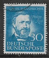 Germany, F.R., 1952, 75th Anniversary Of Telephone,, Used - [7] Federal Republic