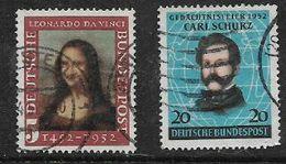 Germany, F.R., 1952, Mona Lisa, Carl Schurz, Used - [7] Federal Republic