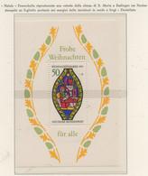 PIA-GE -1976 : Natale - Vetrata Della Chiesa Di Di S. Maria A Esslingen An Neckar  - (Yv  Bf 12) - Vetri & Vetrate