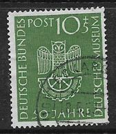 Germany, F.R., 1953, German Museum, 50th Anniversary, Used - [7] Federal Republic