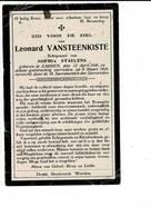 DP 7957 - LEONARD VANSTEENKISTE - ZARREN 1846 + 1926 - Devotieprenten