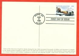 United States 1998. FDC.100th Anniversary Klondike Gold Rush. - Minerals