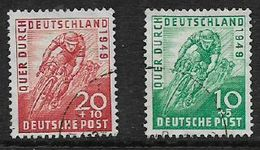 Germany, American-British Zone, 1949,  Across Germany Cycle Race, Used - American,British And Russian Zone