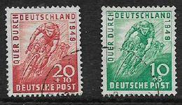 Germany, American-British Zone, 1949,  Across Germany Cycle Race, Used - Amerikaanse, Britse-en Russische Zone