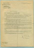 Doc. Ministre Intérieur 1940 ( Constructions De Tranchées-abris) - 1939-45