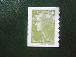 France - Timbres Autocollants 2010 / Marianne De Beaujard Vert Olive Autoadhésif (0,75 €) / Timbre Autoadhésif N° 486 - Frankreich