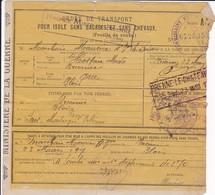 Cl 5)  Documents Divers / Ordre De Transport 1907 - Documents