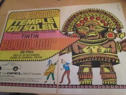 SPI2019 : Milieu Des 60's DOUBLE PAGE TINTIN JEU CONCOURS TEMPLE DU SOLEIL + OPEL HERGE - Advertisement