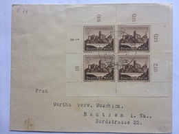 GERMANY 1939 Winter Relief Fund X 4 On Cover To Bautzen - Germany