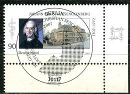 BRD - Mi 2588 ECKE REU - Zentrisch OO Gestempelt (B) - 90C           Johann Christian Senkenberg - [7] República Federal