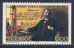 Sweden Sverige 1995 Mi 1917 SG 1841 ** Alfred Nobel (1833-1896) + Will / Autograph Testaments, Chemiker, Industrieller - Nobelprijs