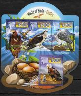 SIERRA LEONE Feuillet  N° 5409/12  * *  ( Cote 20e )  Oiseaux Aigles - Aigles & Rapaces Diurnes