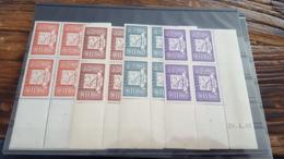 LOT 462183 TIMBRE DE FRANCE NEUF** LUXE N°15 A 18 COIN DATE BLOC - Poste Aérienne