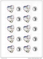 Bloc Personnalisé Coeurs De Chanel 0.75 € Avec Logo Cérés YT 3633A , GOMME BRILLANTE . Voir Scan . Maury N° 19a : 100 € - Francia