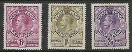 Swaziland, GVR, 1933, 6d, 1/-, 2'6, MH * - Swaziland (...-1967)
