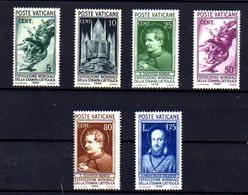 Vatican 1936, Expo De La Presse Catholique, 72 / 78*, Dépareillés, Cote 60,50 € - Vatican