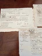 3 Ricevute Commerciali Periodo Napoleonico Mondovi' 1807/1808 - Italië