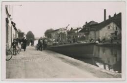 (Bateaux) Chalon-sur-Saône Ou Environs . Carte Photo D'une Vedette Des Ets Schneider . Canal . 1937 . - Chalon Sur Saone