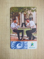 StarHub Chip Phonecard, Code: AC2A100, People Use Computer, Design Of Shell,with A Little Scratch - Singapore