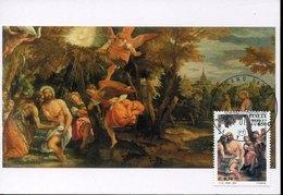 46098 Italia, Maximum 2011, Painting Of  Veronese, Baptism And Temptations Of Christ, Battesimo Di Cristo - Cartoline Maximum