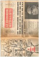 Le Courrier Mutualiste Au Service De L'homme Du Foyer Du Métier N°8 Indépendants  - M. Schumann - Duhamel - Congrès... - Zeitungen