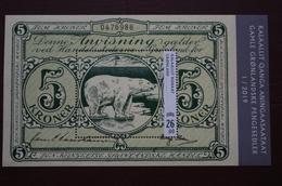6-300 Groenland Greenland Banknote Vieu Billet De Banque  Ours Blanc Polaire Polar Bear Eisbär  Oso Polar Orso Polare - Osos