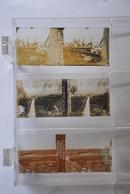 3 Vues Stéréoscopiques Pervijze PERVYSE (Dixmude Belgique Yser) - Poste D'observation Tranchées WW1 Guerre - Diapositivas De Vidrio