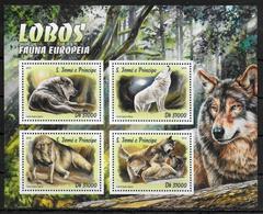 SAINT THOMAS ET PRINCE  Feuillet N° 5423/26   * *  ( Cote 20e )  Loups D Europe - Autres