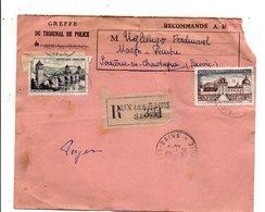 AFFRANCHISSEMENT COMPOSE SUR PLI RECOMMANDE DE AIX LES BAINS 1958 - Marcophilie (Lettres)