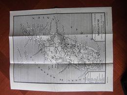 Madagascar: Deux Cartes Des Années 1930 Par Dennery Et Cortot-Lavauzelle - Geographical Maps