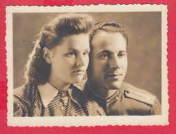 244826 / Vidin - 1943 MAN OFFICER UNIFORM AND WOMAN , Vintage Original Photo , Bulgaria Bulgarie - Personnes Anonymes