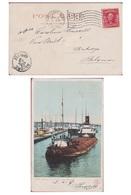 Sault Ste. Marie Michigan Unites States Stamp Washington 2 Cents 1907 Obliteration Stamp Cachet To Anvers - Verenigde Staten