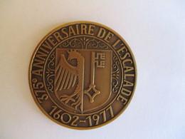 Suisse: Médaille 375e Anniversaire De L'escalade, Genève 1977 - Royaux / De Noblesse