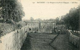 CPA -  BAYONNE - REMPARTS A LA PORTE D'ESPAGNE - Bayonne