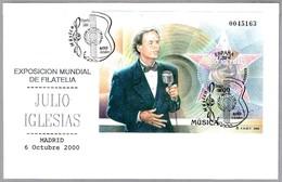 Cantante JULIO IGLESIAS - Singer. Madrid 2000 - Cantantes