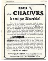 1925 Laboratoire Du Néobiol (traitement Contre La Calvitie) 105 Boulevard Ney Paris - Publicité - Cognac Lichtwitz - Publicités