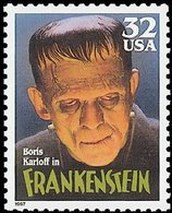 1997 32 Cents Classic Movie Monsters, Frankenstein, Mint Never Hinged - Ungebraucht